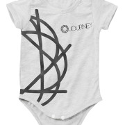 Journey_White_Baby_onesie_Black_Logo_Front