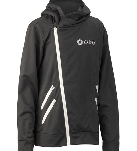 Journey_Black_Hoodie_White_Zippers_Front