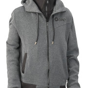 Journey_Gray_Black_Hoodie_Black_Logo_Front