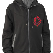 Journey_Black_Gray_Hoodie_Red_Logo_Front
