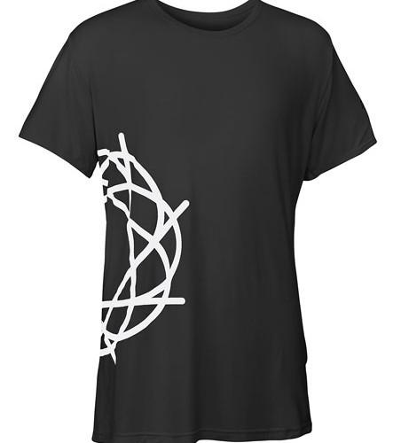 Journey_Small_Black_T-Shirt_Round_White_Logo